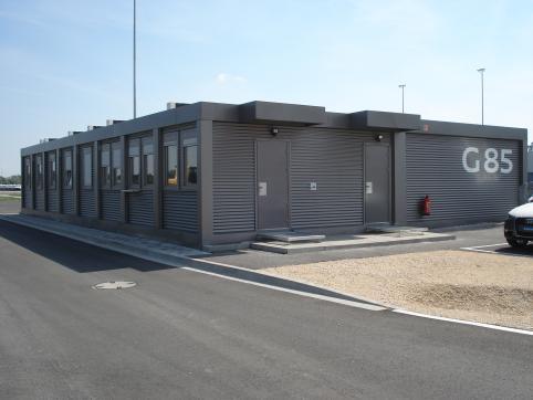Bürocontaineranlage, Győr