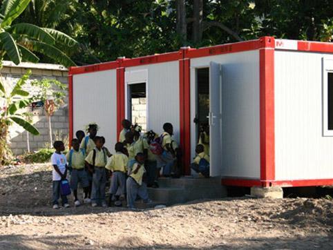 Container school in Haiti