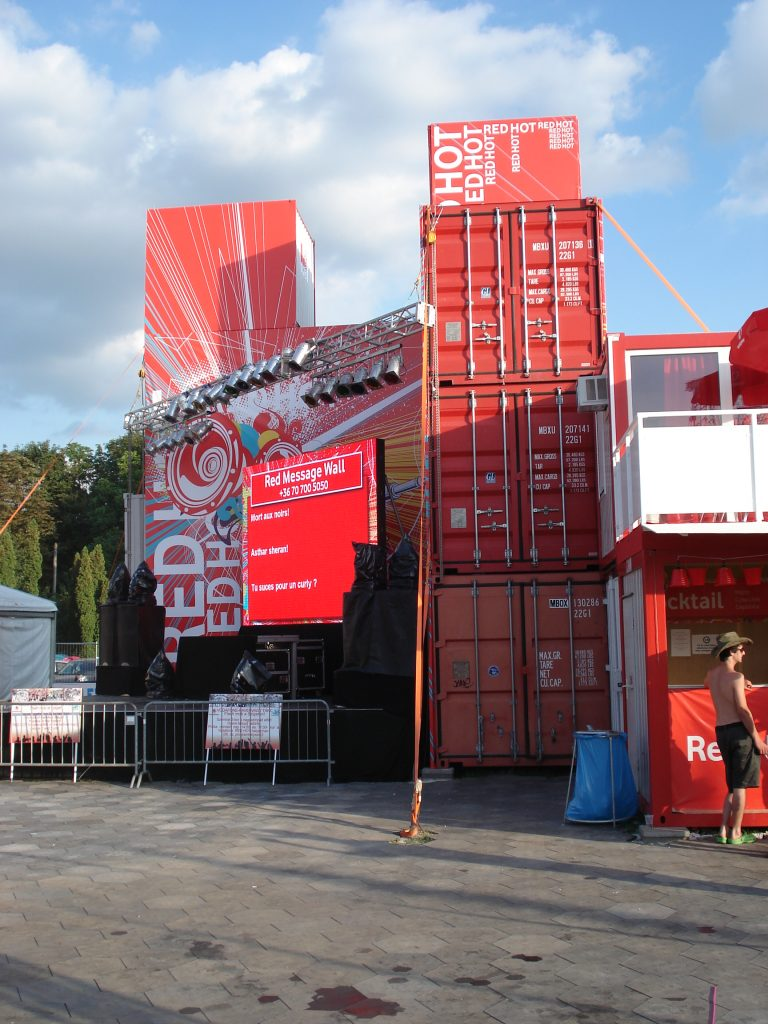 Event container building Sziget festival