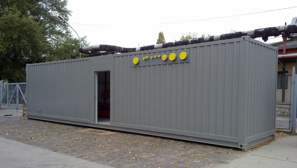 Technológiai konténer – Sprinkler központ konténerben