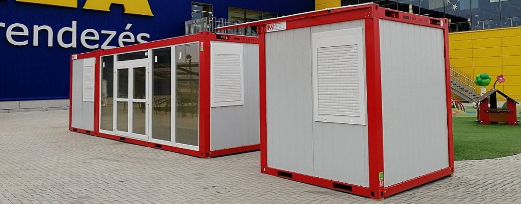 IKEA- konténer üzlethelyiség
