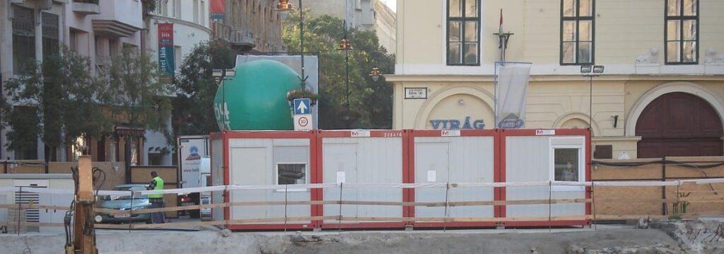 Konténer felvonulási épület- metrófelújítás