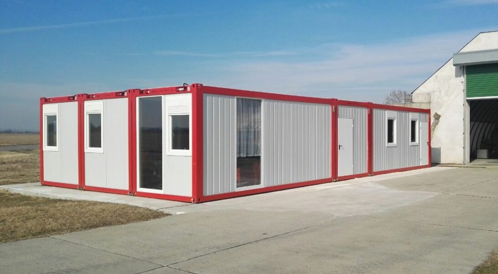 Sármelléki tűzoltósági készenléti konténer épület