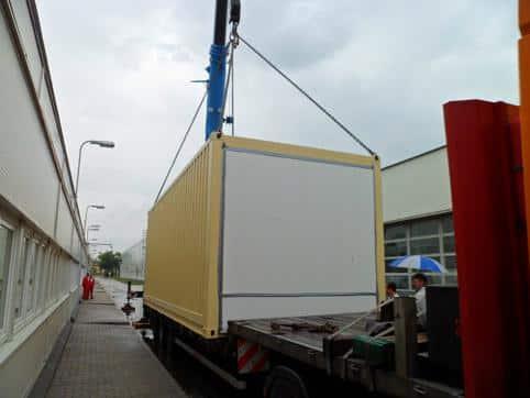 Technológiai konténer – transzformátor állomás konténerben