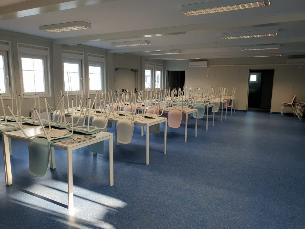 Konténer iskolai étkező  – Veresegyház