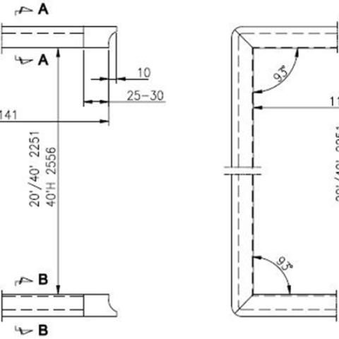 Tengeri konténer – ajtózáró gumi