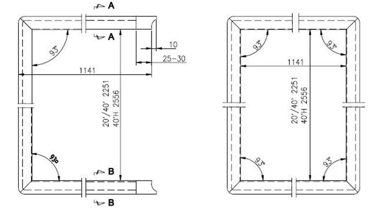 Tengeri konténer - ajtózáró gumi